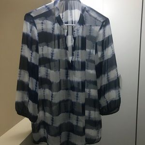 Banana Republic sheer tie dye tunic